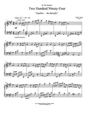 Sheet Music Papillon (Two Hundred Ninety-Four)