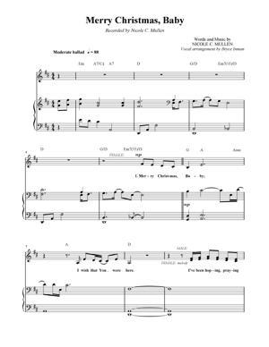 Sheet Music Christmas Sheet Music - Merry Christmas Baby