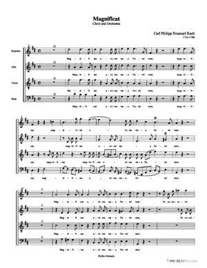 Sheet Music Magnificat