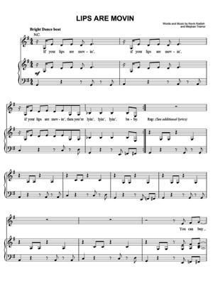 Sheet Music Meghan Trainor - Lips Are Movin