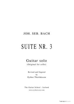 Sheet Music Suite no. 3 (original for cello)