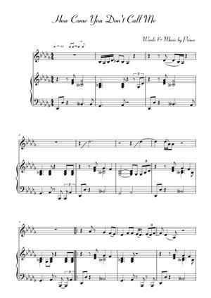 Sheet Music Alicia Keys - How Come You Dont Call Me