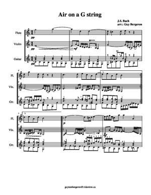 Sheet Music Air on a G string