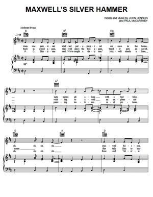 Sheet Music The Beatles - Maxwell's Silver Hammer