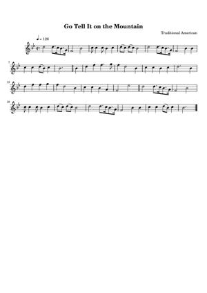Sheet Music Traditional American - Go Tell It On The Mountain