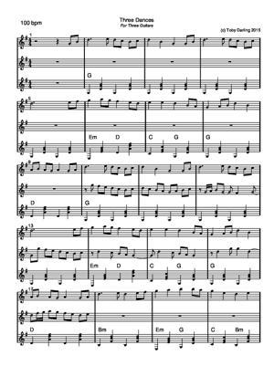 Sheet Music Three Dances