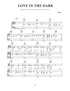 Sheet Music Adele - Love In The Dark