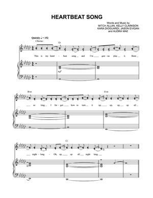 Sheet Music Kelly Clarkson - Heartbeat Song