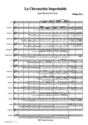 Sheet Music La chevauchée improbable