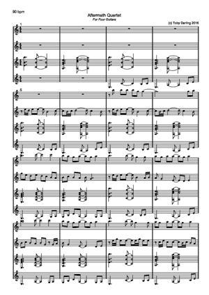 Sheet Music Aftermath Quartet