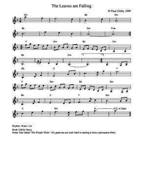 Sheet Music The Leaves are Falling