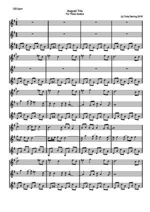 Sheet Music August Trio