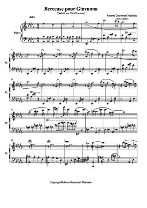 Sheet Music Berceuse for Giovanna