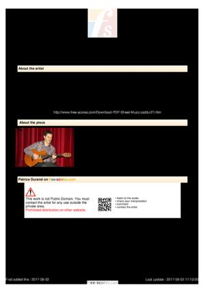 Sheet Music Ventilateur Blues