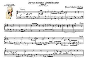 """Sheet Music """"Wer nur den lieben Gott lässt walten"""" (Source: Leipzig Ms. Archiv Bach)"""
