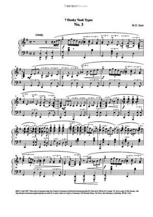 Sheet Music Maarten Smit - 7 Honky Tonk Types No. 3
