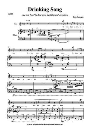 Sheet Music Buvons chers amis, buvons!