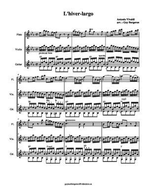 Sheet Music Winter (largo)