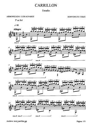Sheet Music terzi carrillon