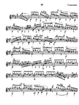 Sheet Music bach bwv1009 cello suite nº3 3 courante