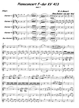 Sheet Music Pianoconcert KV 413-Allegro (accompaniment)
