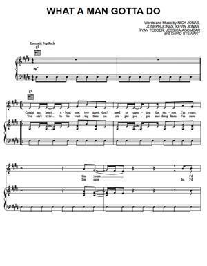 Sheet Music Jonas Brothers - What a Man Gotta Do