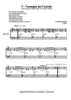 Sheet Music Nostalgia del Castello