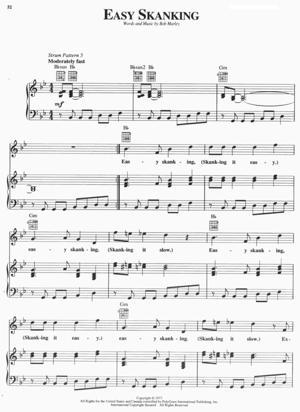 Sheet Music Bob Marley - Easy Skanking