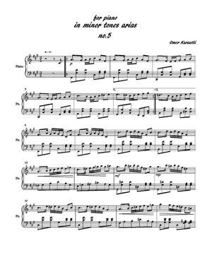 Sheet Music minor tones arias no.5