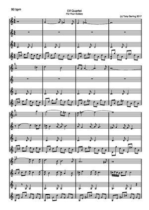 Sheet Music Elf Quartet