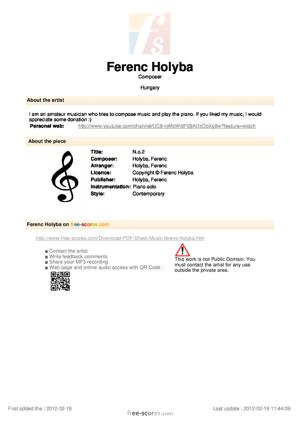 Sheet Music N.o.2