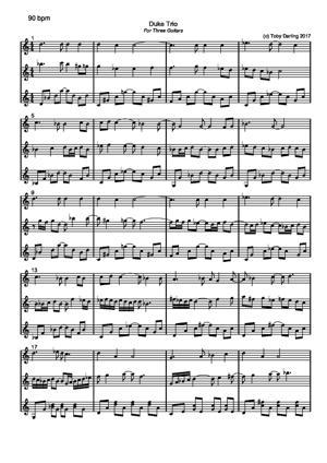 Sheet Music Duke Trio