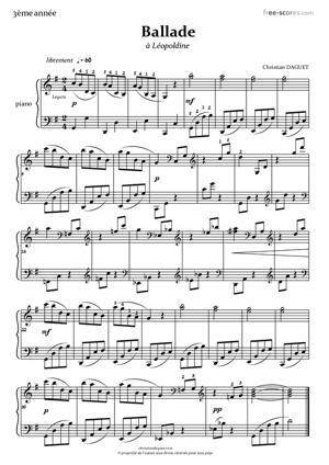Sheet Music Ballade