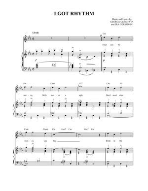 Sheet Music George Gershwin - I Got Rhythm