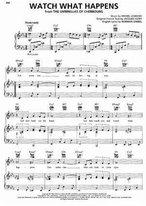 Sheet Music Michel Legrand (from The Umbrellas of Cherbourg) - Watch What Happens