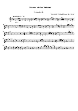 Sheet Music Christoph Willibald Gluck (1714–1787) - March of the Priests