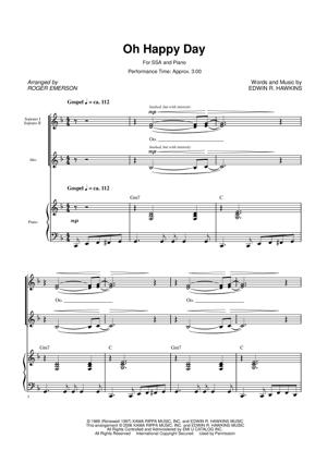 Sheet Music from Sister Act - Oh Happy Day