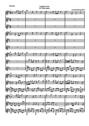 Sheet Music Ladburi Trio
