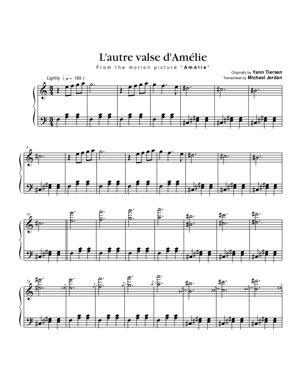 Sheet Music Yann Tiersen (from Amélie) - L'autre Valse d'Amélie