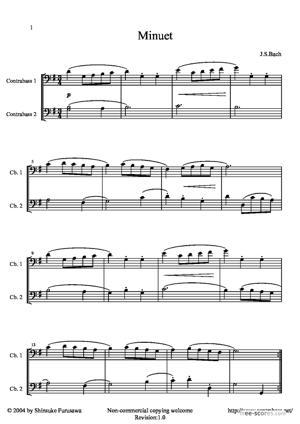 Sheet Music Minuet
