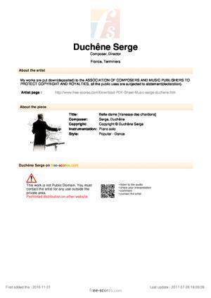 Sheet Music Belle-dame