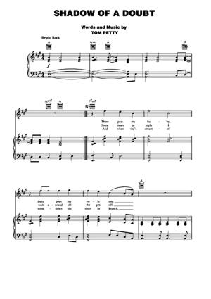 Sheet Music Tom Petty - Shadow Of A Doubt