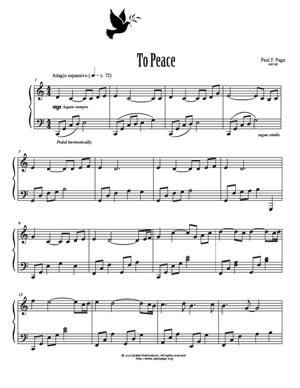 Sheet Music To Peace