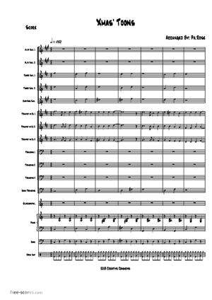 Sheet Music Xmas' Toons