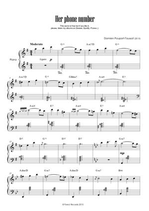 Sheet Music Her phone number
