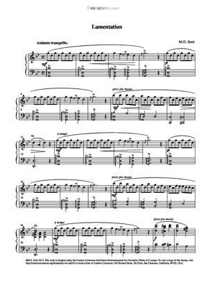 Sheet Music Lamentation