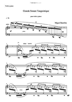 Sheet Music Grande Sonate Tanguistique