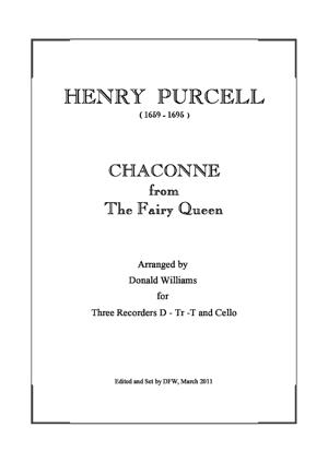 Sheet Music Chaconne from The Fairy Queen