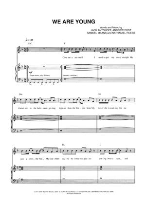 Sheet Music Fun - We Are Young