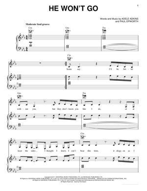 Sheet Music Adele - He Won't Go